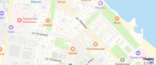 Курортный проезд на карте Каспийска с номерами домов