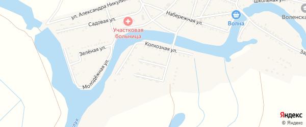 Улица Механизаторов на карте Вольного села Астраханской области с номерами домов