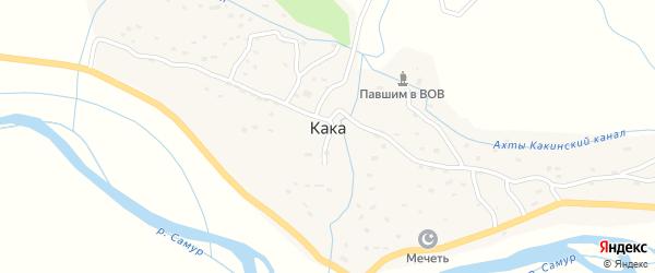 Улица Гусейнова К.М на карте села Каки Дагестана с номерами домов