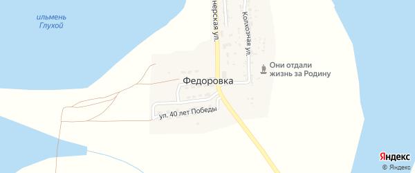 Улица Дружбы на карте села Федоровки Астраханской области с номерами домов