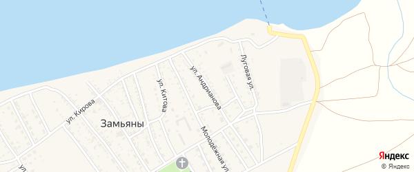 Улица Андрианова на карте села Замьяны Астраханской области с номерами домов