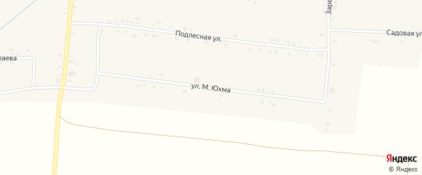 Улица М.Юхма на карте села Сугуты с номерами домов