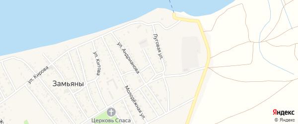 Коммунистическая улица на карте села Замьяны Астраханской области с номерами домов