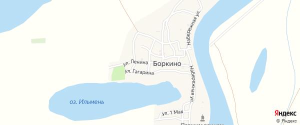 Улица Ленина на карте села Боркино Астраханской области с номерами домов