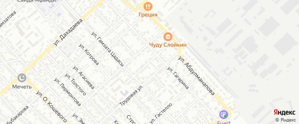 Махачкалинский переулок на карте Каспийска с номерами домов