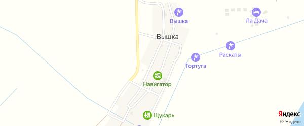 Октябрьская улица на карте села Вышки Астраханской области с номерами домов