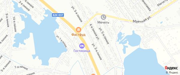 Школьная 3-я улица на карте Южного микрорайона с номерами домов