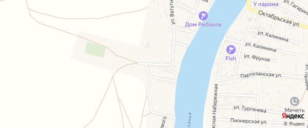 Пролетарская улица на карте Товарного поселка Астраханской области с номерами домов
