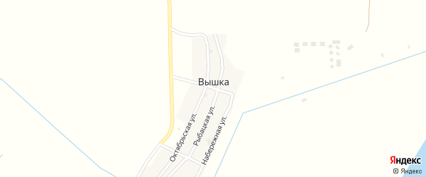 Улица Мира на карте села Вышки с номерами домов