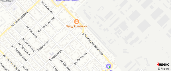 Улица Абдулманапова на карте Каспийска с номерами домов