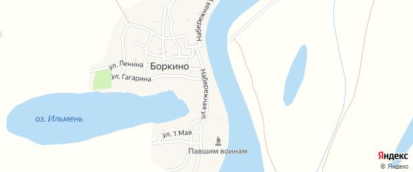 Набережная улица на карте села Боркино Астраханской области с номерами домов