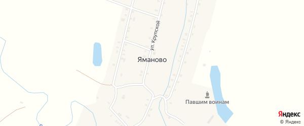 Улица Крупской на карте деревни Яманово Чувашии с номерами домов