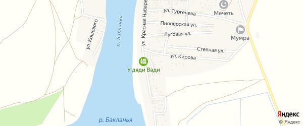 Улица Бабушкина на карте села Мумры Астраханской области с номерами домов