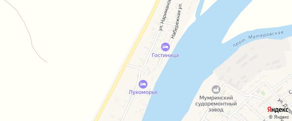 Улица Нариманова на карте Товарного поселка Астраханской области с номерами домов