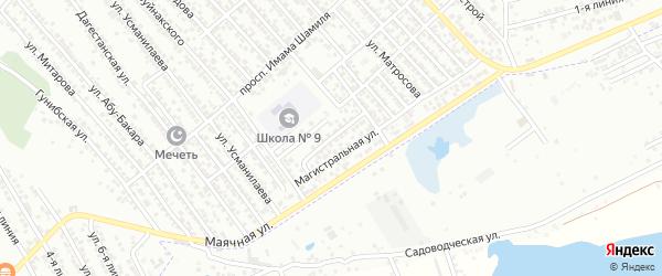 Магистральный переулок на карте Каспийска с номерами домов