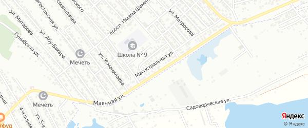 Магистральная улица на карте Каспийска с номерами домов