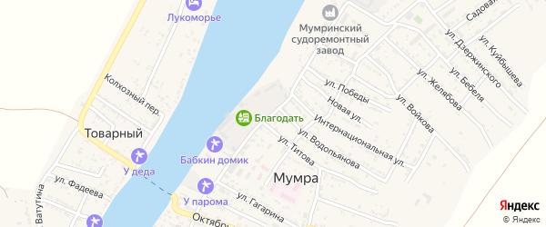 Улица Дудкина на карте села Мумры Астраханской области с номерами домов