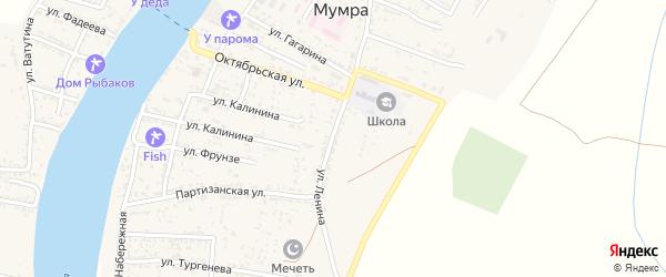Улица Ленина на карте села Мумры Астраханской области с номерами домов