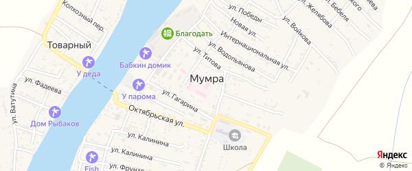 Улица 40 лет Октября на карте села Мумры Астраханской области с номерами домов