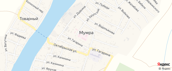 Песочная улица на карте села Мумры Астраханской области с номерами домов