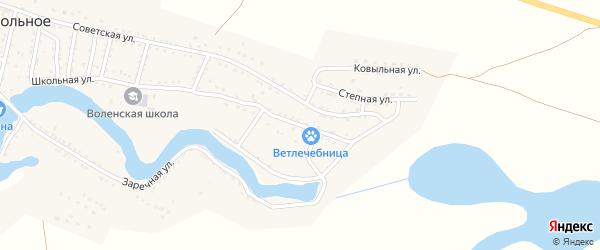 Первомайская улица на карте Вольного села Астраханской области с номерами домов
