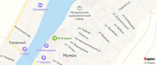 Новая улица на карте села Мумры Астраханской области с номерами домов