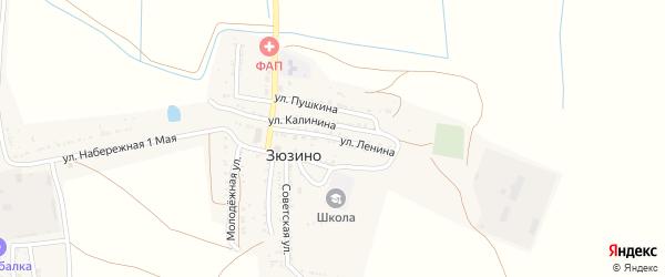 Улица Ленина на карте села Зюзино с номерами домов