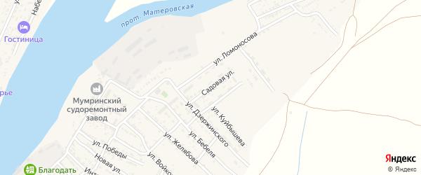 Садовая улица на карте села Мумры Астраханской области с номерами домов