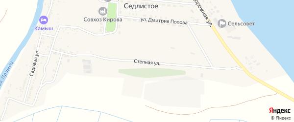 Степная улица на карте Седлистого села Астраханской области с номерами домов