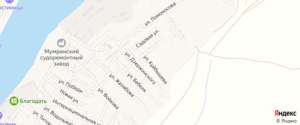 Улица Куйбышева на карте села Мумры Астраханской области с номерами домов