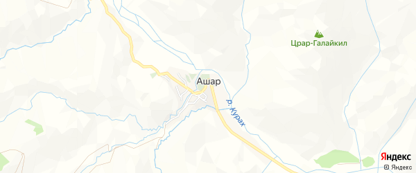 Карта села Ашара в Дагестане с улицами и номерами домов