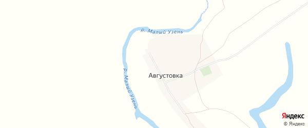 Карта села Августовки в Саратовской области с улицами и номерами домов