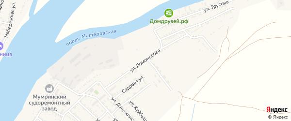 Улица Ломоносова на карте села Мумры Астраханской области с номерами домов