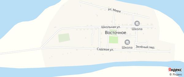 Тихий переулок на карте Восточного села Астраханской области с номерами домов