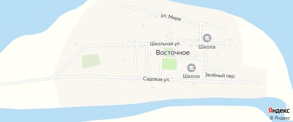 Дунайский переулок на карте Восточного села Астраханской области с номерами домов