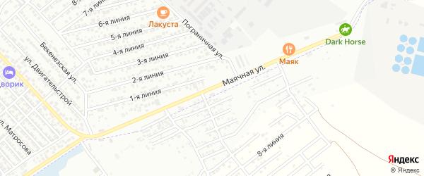 Маячная улица на карте Каспийска с номерами домов