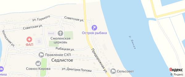 Волжская улица на карте Седлистого села Астраханской области с номерами домов
