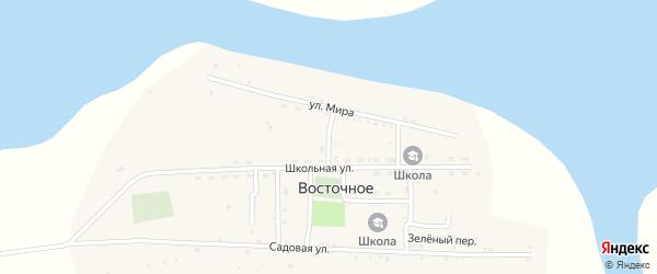 Спортивный переулок на карте Восточного села Астраханской области с номерами домов