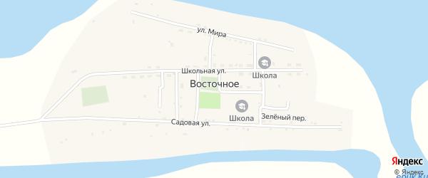 Речной переулок на карте Восточного села Астраханской области с номерами домов