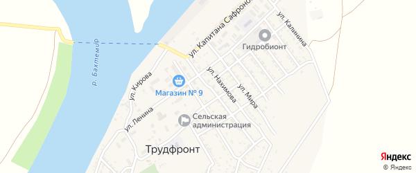 Волжская улица на карте села Трудфронта Астраханской области с номерами домов