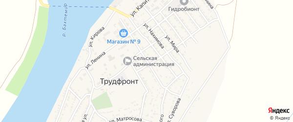 Улица 50 лет Победы на карте села Трудфронта Астраханской области с номерами домов