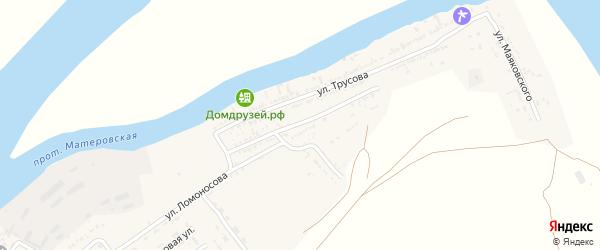Молодежная улица на карте села Мумры Астраханской области с номерами домов