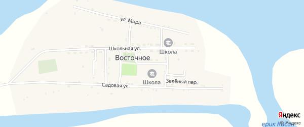 Новый переулок на карте Восточного села Астраханской области с номерами домов