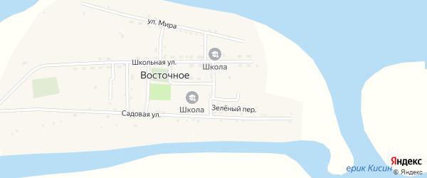 Широкий переулок на карте Восточного села Астраханской области с номерами домов