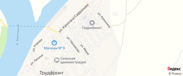 Улица Экипаж Морловец на карте села Трудфронта Астраханской области с номерами домов