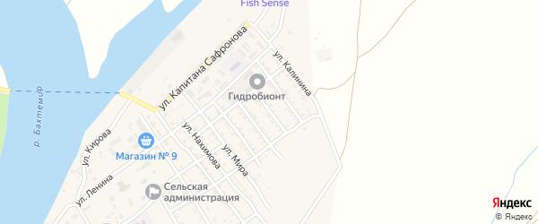 Улица 40 лет Октября на карте села Трудфронта Астраханской области с номерами домов