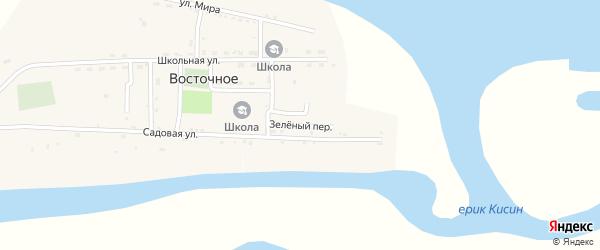 Дорожный переулок на карте Восточного села Астраханской области с номерами домов