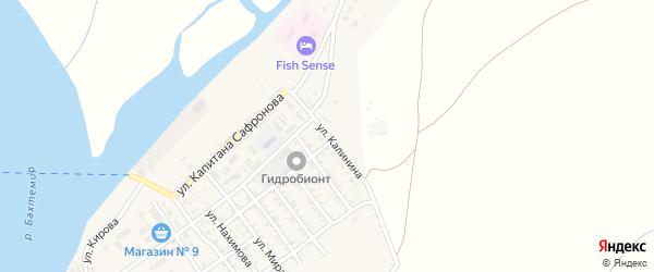 Молодежная улица на карте села Трудфронта Астраханской области с номерами домов