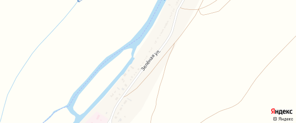 Зеленая улица на карте села Трудфронта Астраханской области с номерами домов