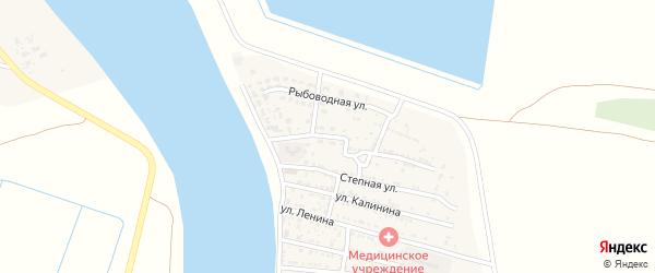 Октябрьская улица на карте Житного села Астраханской области с номерами домов